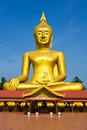 Large golden Buddha Stock Images