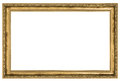 Large golden frame isolated on white background Stock Images