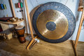 Large gong great in the music room Stock Image