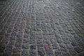 Large gray cobblestones bridge of a closeup Stock Photography