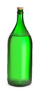 Large green bottle with white wine vector Royalty Free Stock Photos