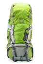 Large green touristic backpack on white background Royalty Free Stock Images