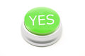 Large green YES button Royalty Free Stock Photo