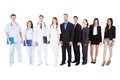 Large ground of doctors and managers over white background Royalty Free Stock Image