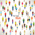 A large group of adults gather design together icon Stock Photography