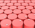 Large group of barrels Stock Photography