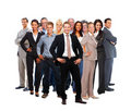 Large group of business colleagues standing Royalty Free Stock Photos