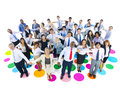 Large group of business people holding hands Royalty Free Stock Image
