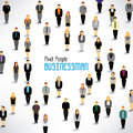 A large group of businessmen gather design together icon Royalty Free Stock Image
