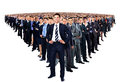Large group of businesspeople on a white background Royalty Free Stock Images
