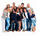 Large group of casual people standing in a group Stock Image