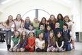 Large Group Of Children Enjoying Drama Workshop Together Royalty Free Stock Photo