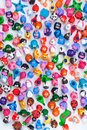 Large group of clay toys Royalty Free Stock Photo