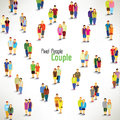 A large group of couples gather design together icon Royalty Free Stock Photos