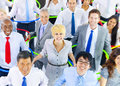 Large group of diverse business people Stock Image