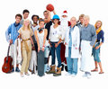 Large group of diverse people Stock Photos