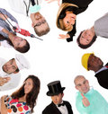 Large group of diversity workers people Royalty Free Stock Photo