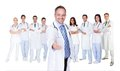 Large group of doctors and nurses Royalty Free Stock Photo