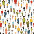 Large group of flat cartoon people. vector Royalty Free Stock Photo