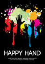 Large group of happy hands design with copy space eps Royalty Free Stock Photo