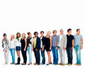 Large group of happy people,with copyspace Royalty Free Stock Photo