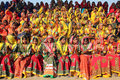 Large group of indian girls in colorful ethnic att pushkar india november attire attends at pushkar camel fair on november pushkar Royalty Free Stock Photo