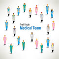 A large group of medical team gather design together icon Royalty Free Stock Photos