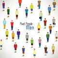 A large group of men gather design together icon Stock Photography