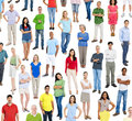Large group of multi ethnic people Royalty Free Stock Photos