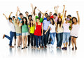 Large Group of People Celebrating community Concept Royalty Free Stock Photo