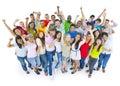 Large group people celebrating enjoying concept Stock Photo