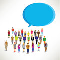 A large group of people gather design together icon Royalty Free Stock Photos