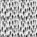 Large group of people. vector seamless pattern Royalty Free Stock Photo