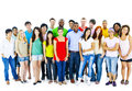Large Group of Student Community People Concept Royalty Free Stock Photo