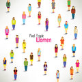 A large group of women gather design together icon Royalty Free Stock Images