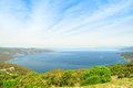 Large gulf formed by the island of cres sea croatia Stock Photos