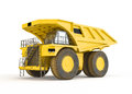 Large haul truck isolated on white background Royalty Free Stock Images