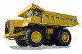 Large haul truck ready for big job in a mine low saturation and Royalty Free Stock Images