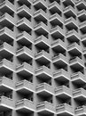 Large highrise modern apartment building with balconies Royalty Free Stock Photo