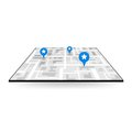 Large icon gps navigation Royalty Free Stock Photo