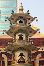 Large Incense Burner Jing An Temple Shanghai China Stock Image