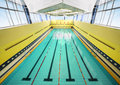Large indoor swimming pool Royalty Free Stock Photography