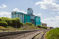 Large industrial elevator, railway Royalty Free Stock Photo