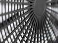 Large industrial fan close-up Royalty Free Stock Image