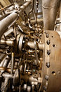 Large industrial generator closeup photo Stock Image