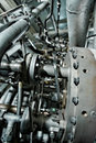 Large industrial generator closeup photo Stock Photography