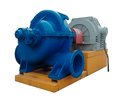 Large industrial heating water pump Royalty Free Stock Photo