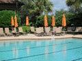 Large inground swimming pool Royalty Free Stock Photo