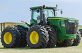 Large john deere tractor farm Royalty Free Stock Photo