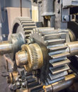Large machinery gears Royalty Free Stock Photo